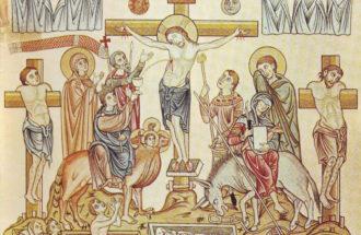 Hortus Deliciarum, Die Kreuzigung Jesu Christi