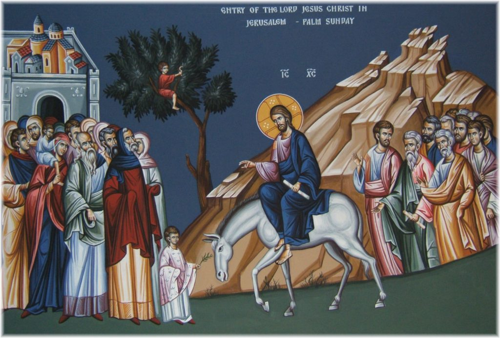 Palm Sunday Icon